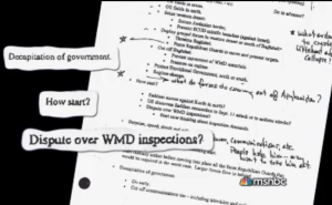 HUBRIS DOC - Create Dispute Over WMD Inspections