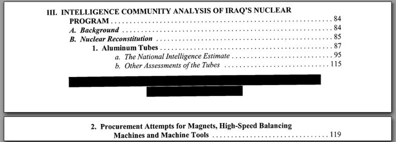 Senate Intelligence Report on Iraq WMD