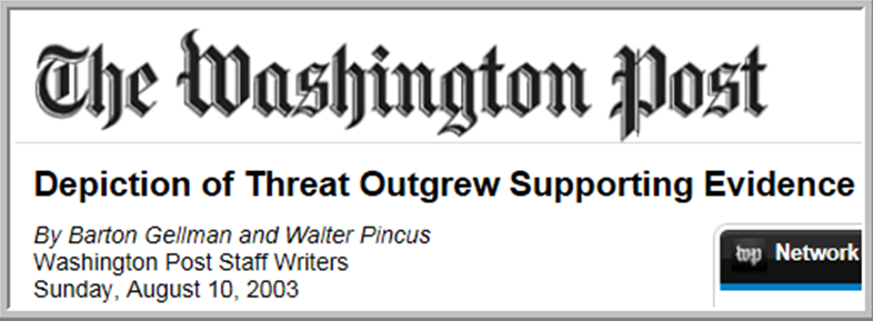 Washington Post - Depiction of Threat
